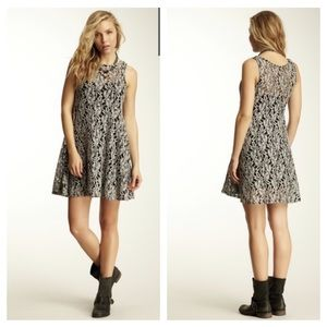 Free People Miles of Lace Tank Floral Lace Dress